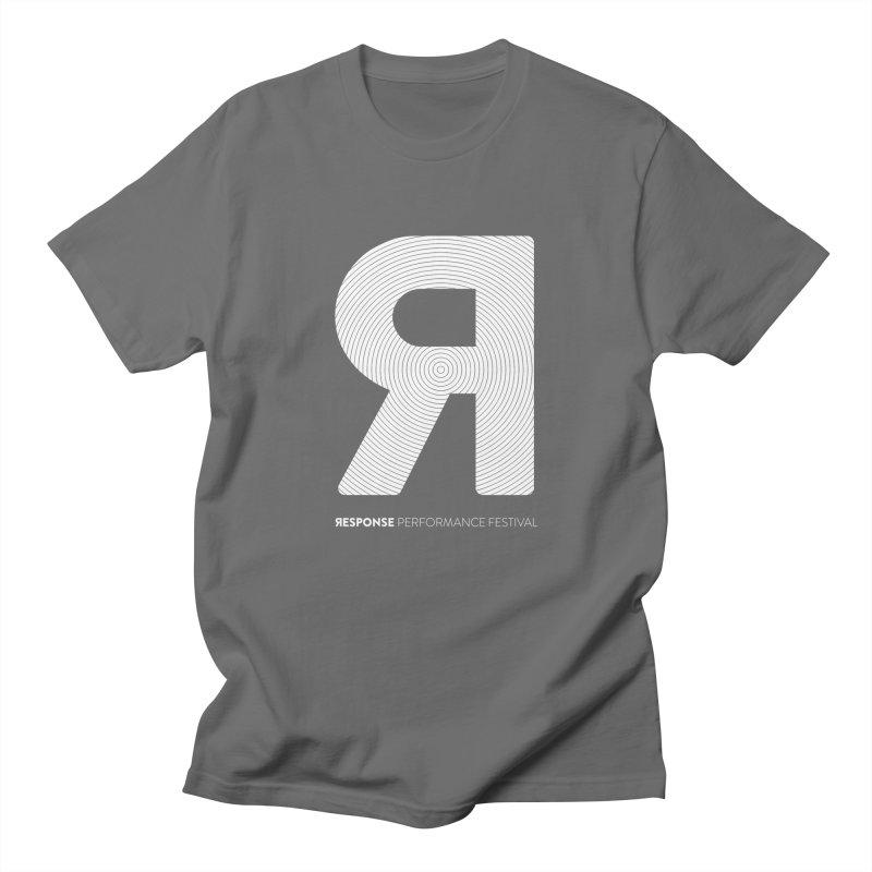 Response Performance Festival - white logo Men's T-Shirt by Torn Space Theater Merch