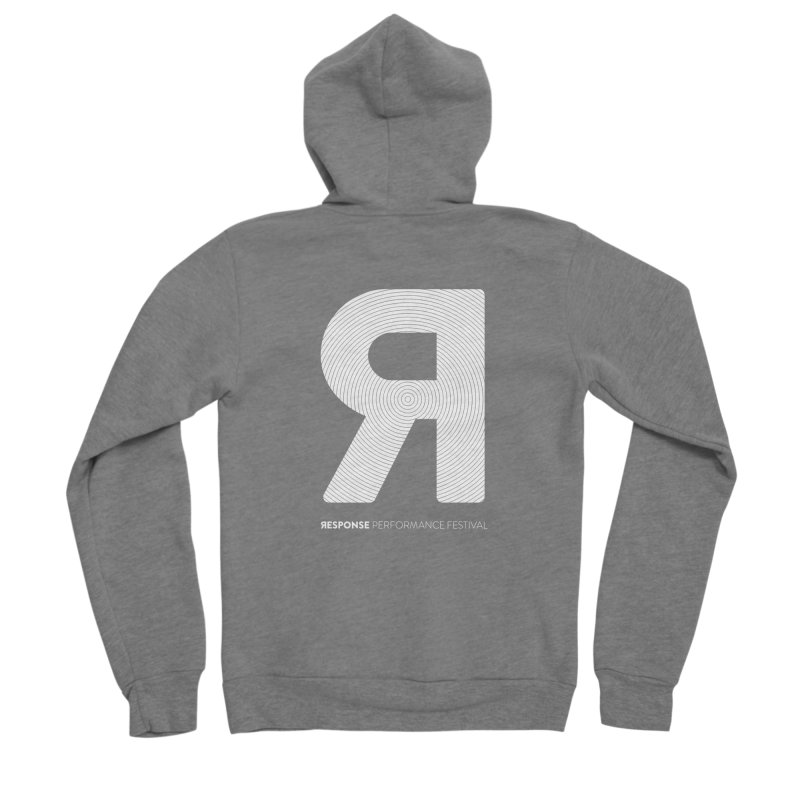 Response Performance Festival - white logo Men's Zip-Up Hoody by Torn Space Theater Merch