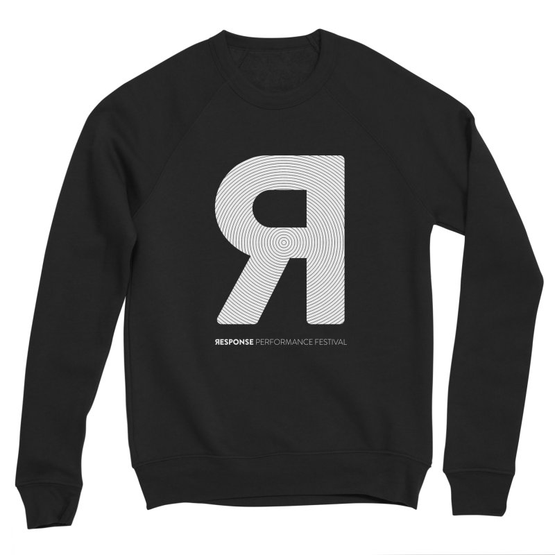 Response Performance Festival - white logo Men's Sponge Fleece Sweatshirt by Torn Space Theater Merch