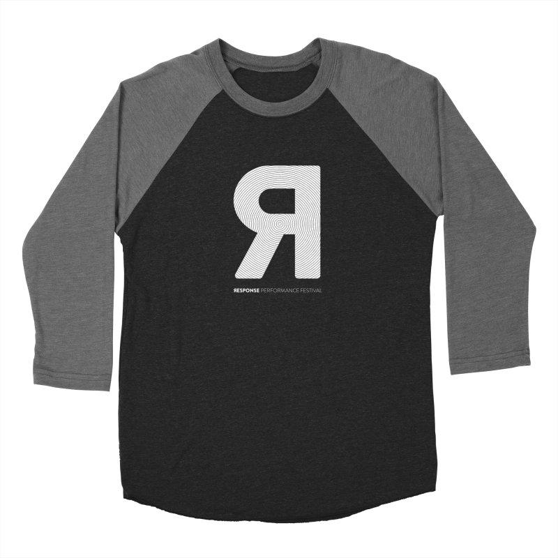 Response Performance Festival - white logo Women's Baseball Triblend Longsleeve T-Shirt by Torn Space Theater Merch