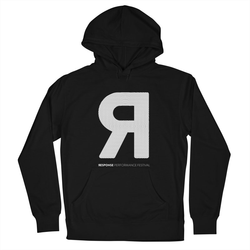 Response Performance Festival - white logo Men's Pullover Hoody by Torn Space Theater's Artist Shop