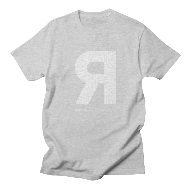 Response Performance Festival - white logo Men's T-shirt by Torn Space Theater's Artist Shop