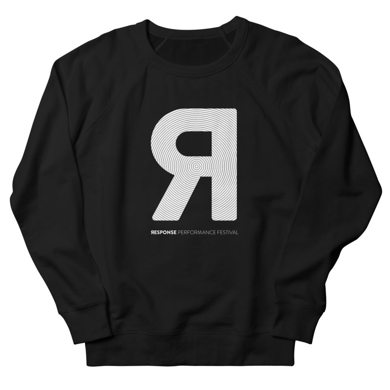 Response Performance Festival - white logo Women's French Terry Sweatshirt by Torn Space Theater Merch