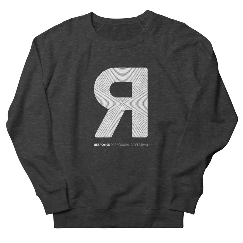 Response Performance Festival - white logo Men's French Terry Sweatshirt by Torn Space Theater Merch