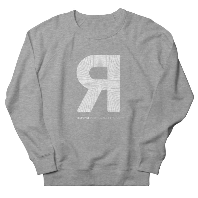 Response Performance Festival - white logo Men's Sweatshirt by Torn Space Theater's Artist Shop