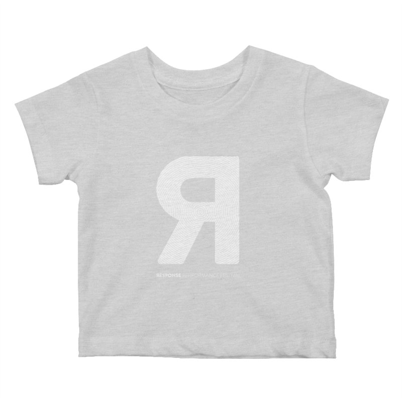 Response Performance Festival - white logo Kids Baby T-Shirt by Torn Space Theater Merch