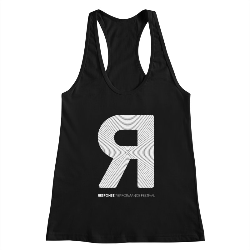 Response Performance Festival - white logo Women's Racerback Tank by Torn Space Theater Merch