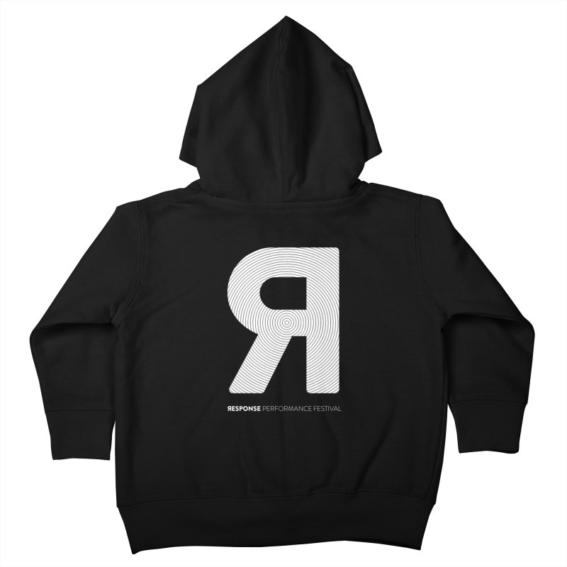 Response Performance Festival - white logo Kids Toddler Zip-Up Hoody by Torn Space Theater Merch