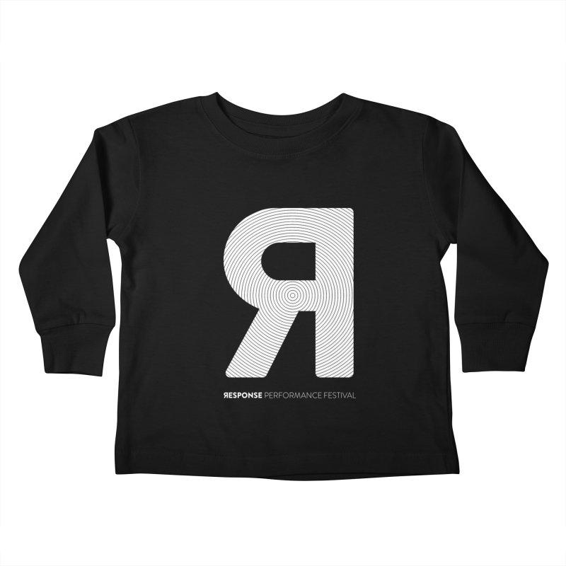 Response Performance Festival - white logo Kids Toddler Longsleeve T-Shirt by Torn Space Theater Merch