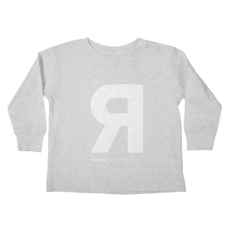 Response Performance Festival - white logo Kids Toddler Longsleeve T-Shirt by Torn Space Theater Merch