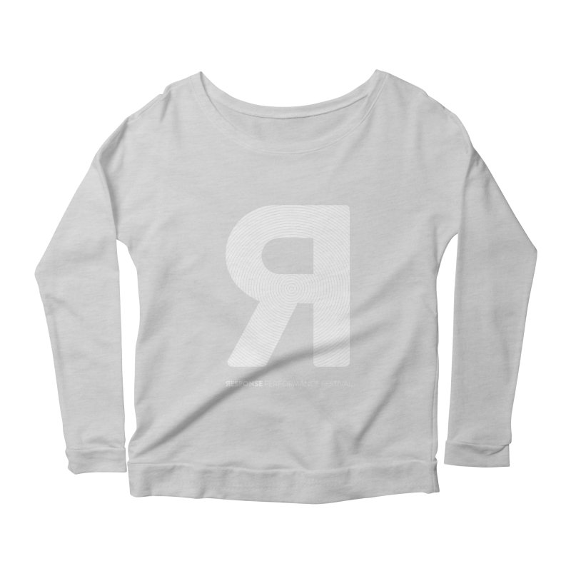 Response Performance Festival - white logo Women's Longsleeve Scoopneck  by Torn Space Theater's Artist Shop