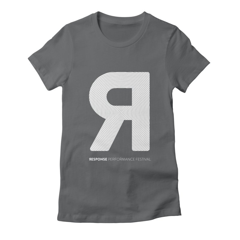 Response Performance Festival - white logo Women's Fitted T-Shirt by Torn Space Theater's Artist Shop