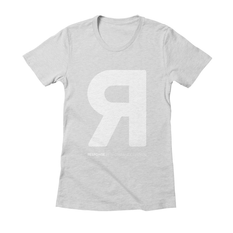 Response Performance Festival - white logo Women's Fitted T-Shirt by Torn Space Theater Merch