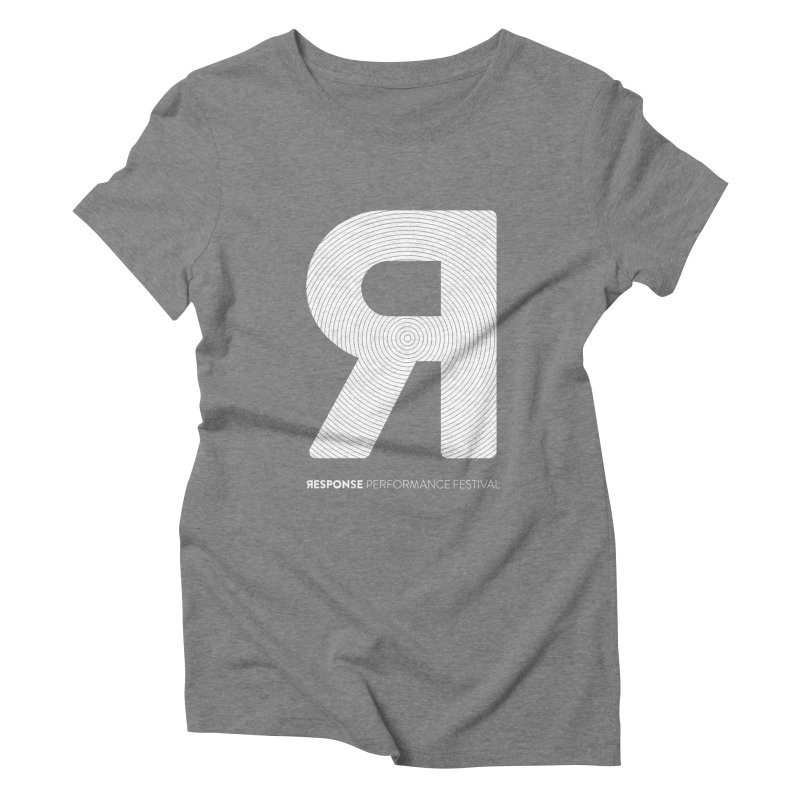 Response Performance Festival - white logo Women's Triblend T-Shirt by Torn Space Theater Merch