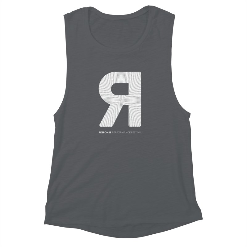 Response Performance Festival - white logo Women's Muscle Tank by Torn Space Theater's Artist Shop