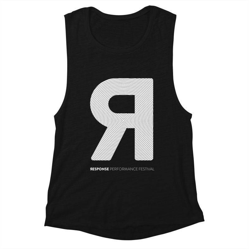 Response Performance Festival - white logo Women's Muscle Tank by Torn Space Theater Merch