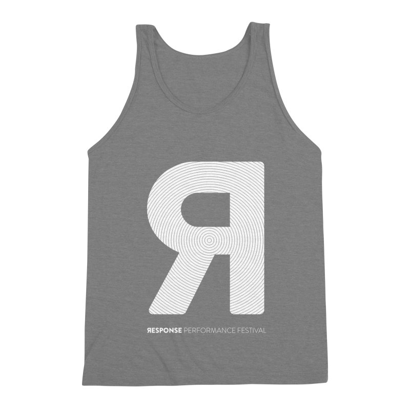Response Performance Festival - white logo Men's Triblend Tank by Torn Space Theater Merch