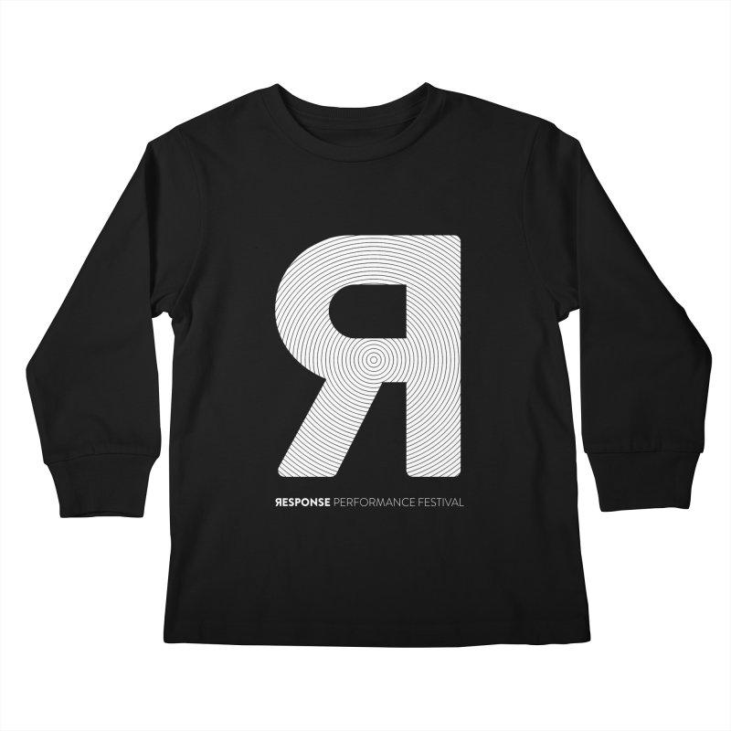 Response Performance Festival - white logo Kids Longsleeve T-Shirt by Torn Space Theater Merch