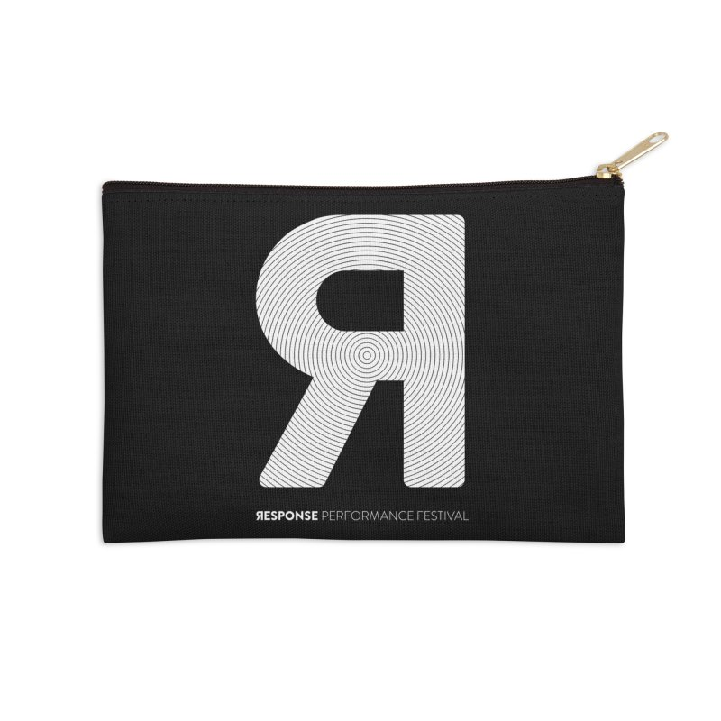 Response Performance Festival - white logo Accessories Zip Pouch by Torn Space Theater Merch