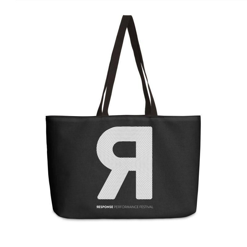 Response Performance Festival - white logo Accessories Weekender Bag Bag by Torn Space Theater Merch