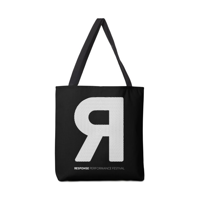 Response Performance Festival - white logo Accessories Bag by Torn Space Theater's Artist Shop