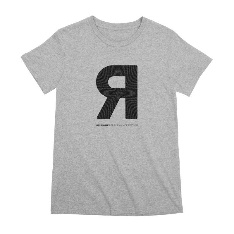 Response Performance Festival - black logo Women's Premium T-Shirt by Torn Space Theater Merch