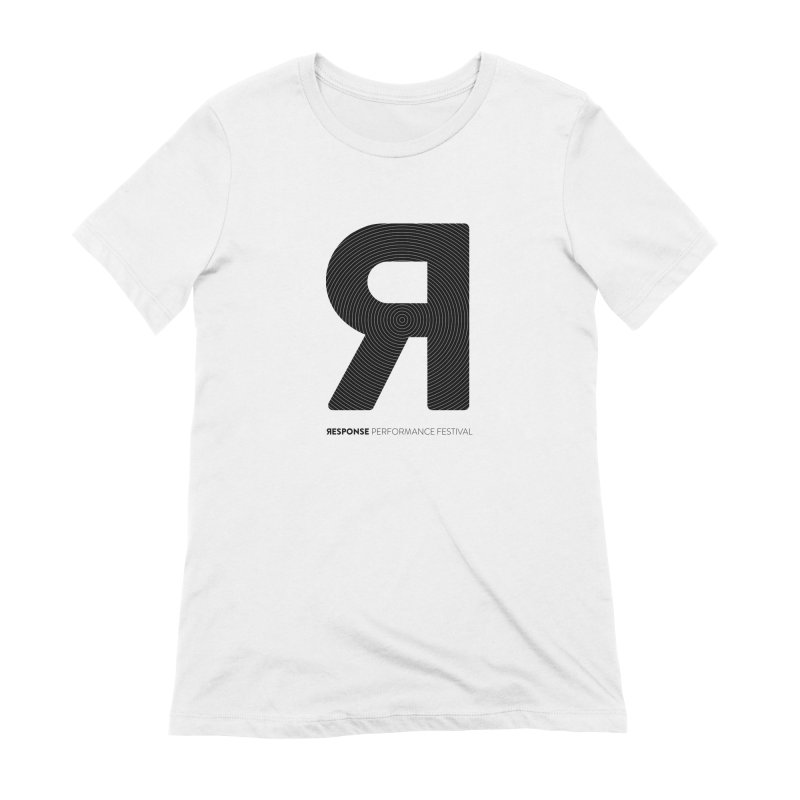 Response Performance Festival - black logo Women's T-Shirt by Torn Space Theater Merch