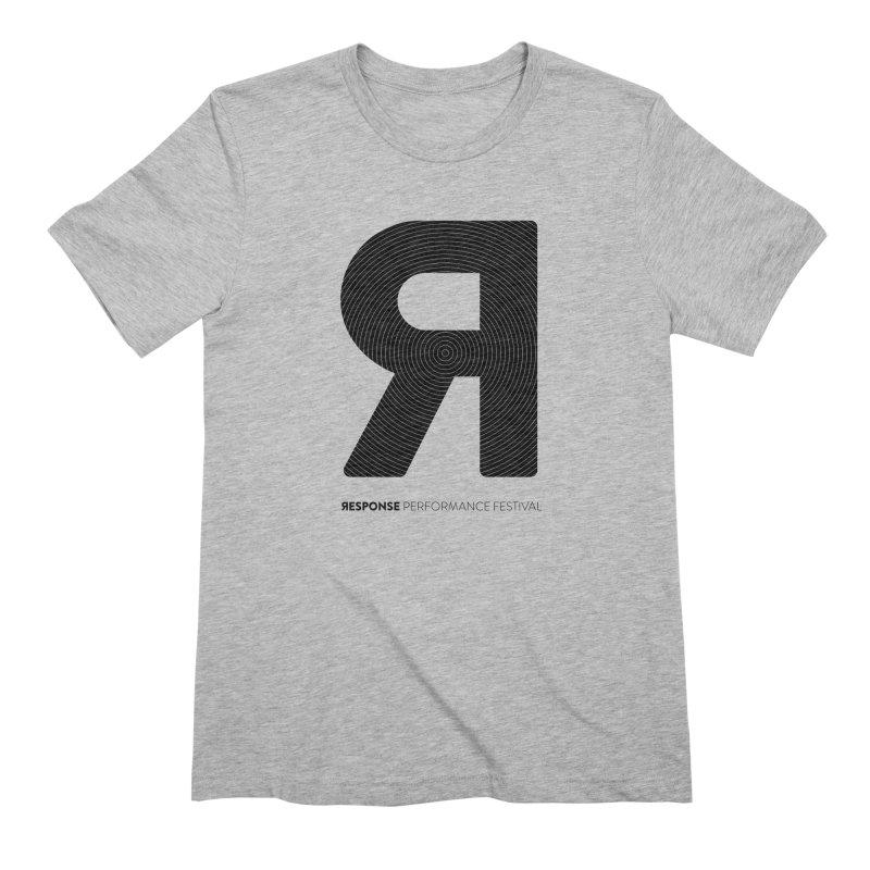 Response Performance Festival - black logo Men's T-Shirt by Torn Space Theater Merch