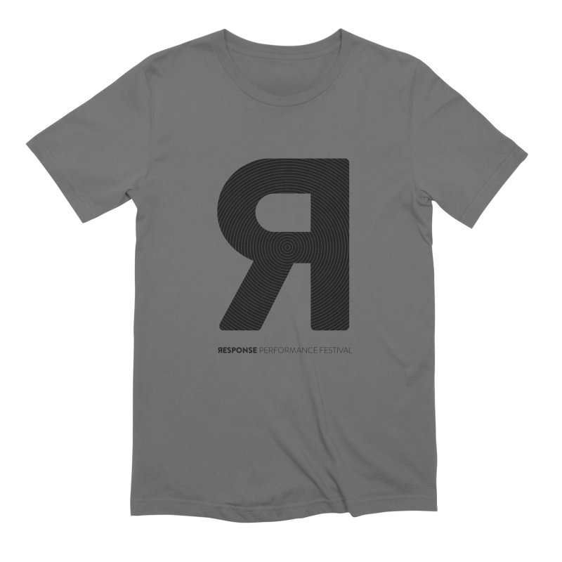 Response Performance Festival - black logo Men's Extra Soft T-Shirt by Torn Space Theater Merch