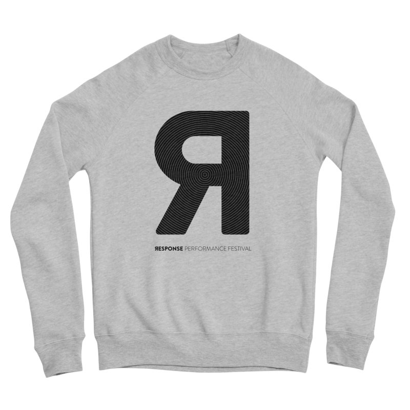 Response Performance Festival - black logo Men's Sponge Fleece Sweatshirt by Torn Space Theater Merch