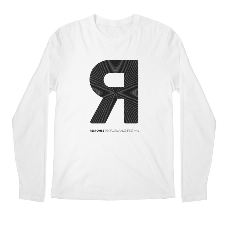 Response Performance Festival - black logo Men's Regular Longsleeve T-Shirt by Torn Space Theater's Artist Shop