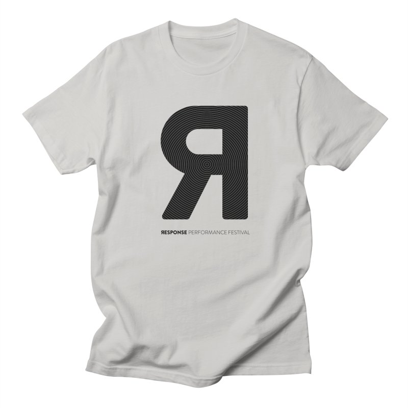Response Performance Festival - black logo Men's T-shirt by Torn Space Theater's Artist Shop