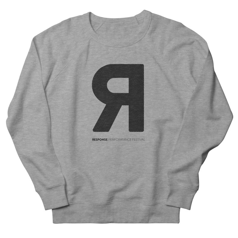 Response Performance Festival - black logo Men's French Terry Sweatshirt by Torn Space Theater Merch