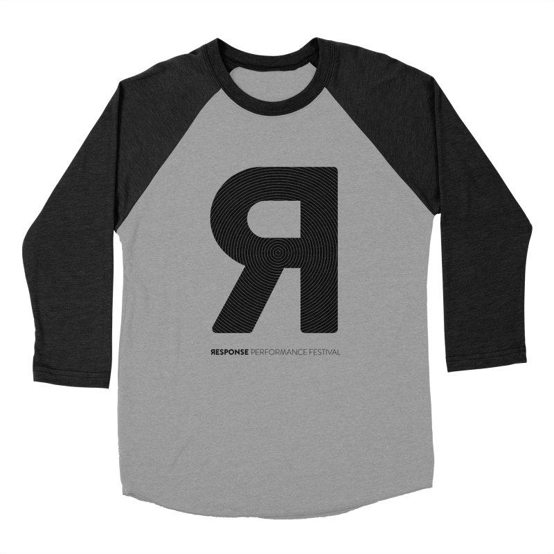 Response Performance Festival - black logo Women's Baseball Triblend Longsleeve T-Shirt by Torn Space Theater Merch