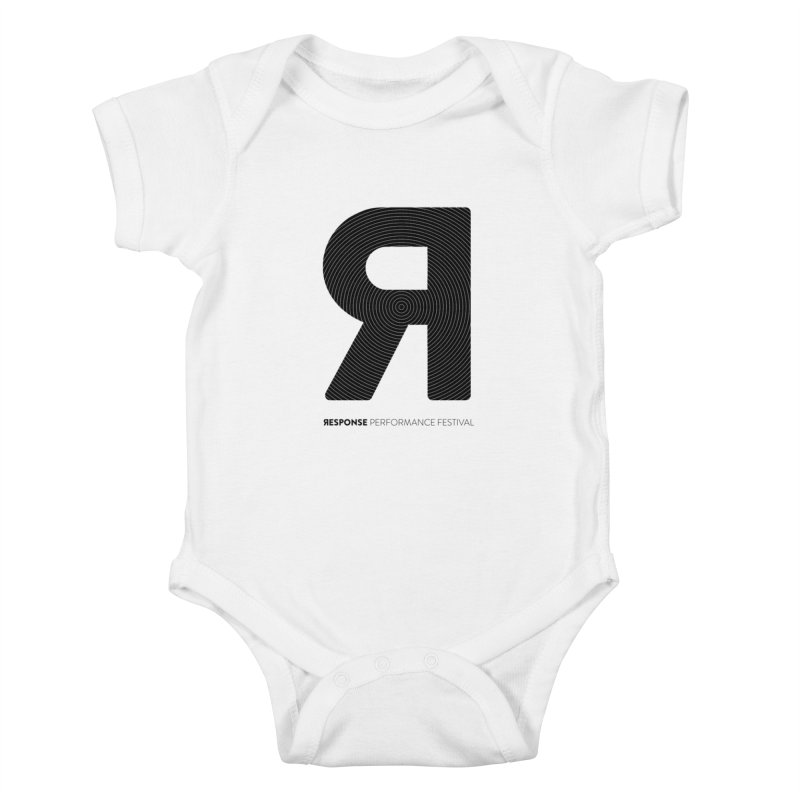 Response Performance Festival - black logo Kids Baby Bodysuit by Torn Space Theater Merch