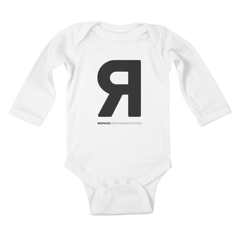 Response Performance Festival - black logo Kids Baby Longsleeve Bodysuit by Torn Space Theater Merch