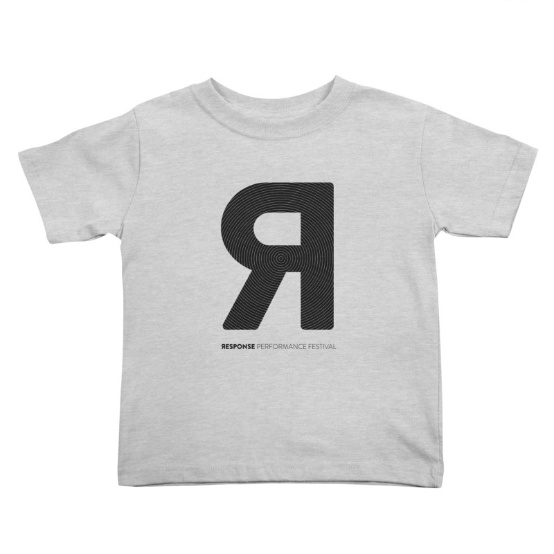 Response Performance Festival - black logo Kids Toddler T-Shirt by Torn Space Theater Merch