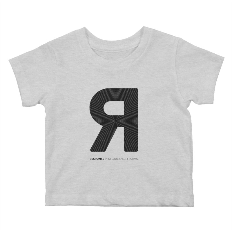 Response Performance Festival - black logo Kids Baby T-Shirt by Torn Space Theater Merch