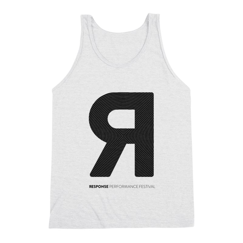 Response Performance Festival - black logo Men's Triblend Tank by Torn Space Theater Merch
