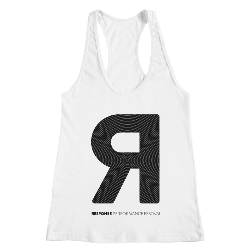 Response Performance Festival - black logo Women's Racerback Tank by Torn Space Theater Merch