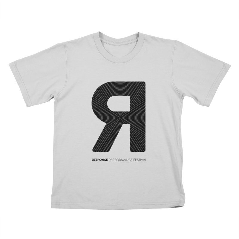 Response Performance Festival - black logo Kids T-Shirt by Torn Space Theater Merch