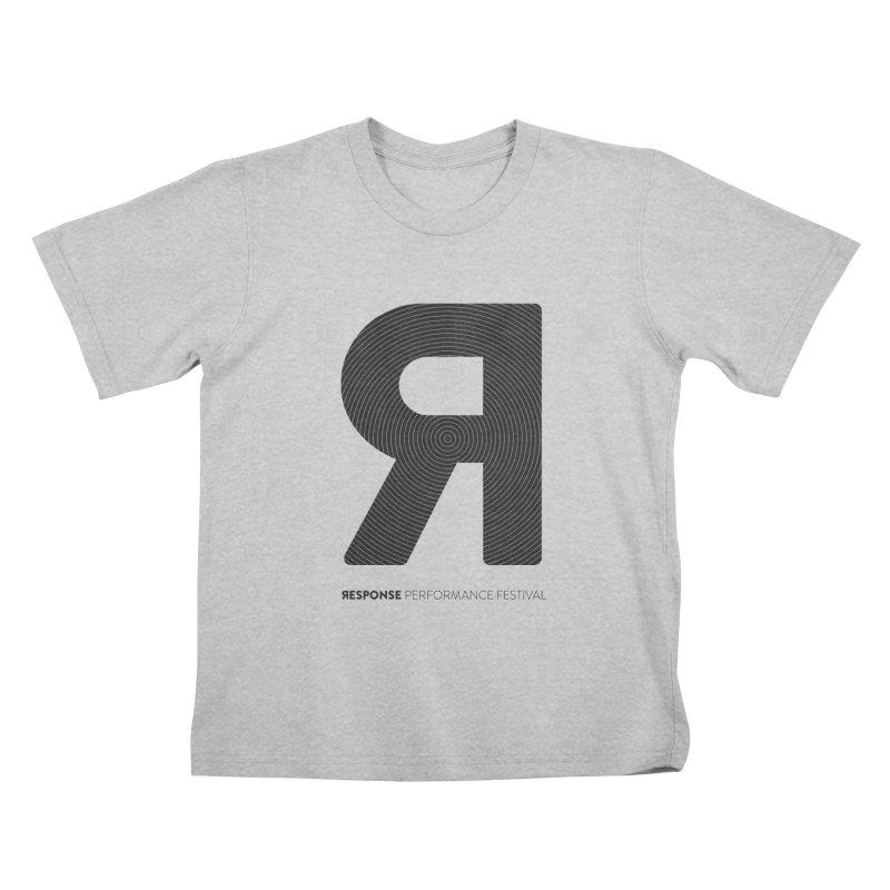 Response Performance Festival - black logo Kids T-Shirt by Torn Space Theater Merch
