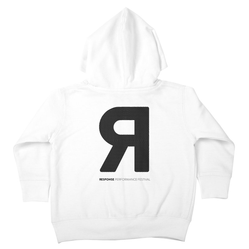 Response Performance Festival - black logo Kids Toddler Zip-Up Hoody by Torn Space Theater Merch