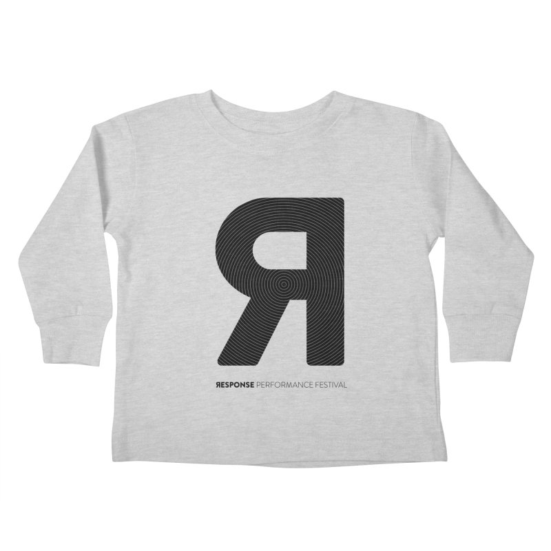 Response Performance Festival - black logo Kids Toddler Longsleeve T-Shirt by Torn Space Theater Merch