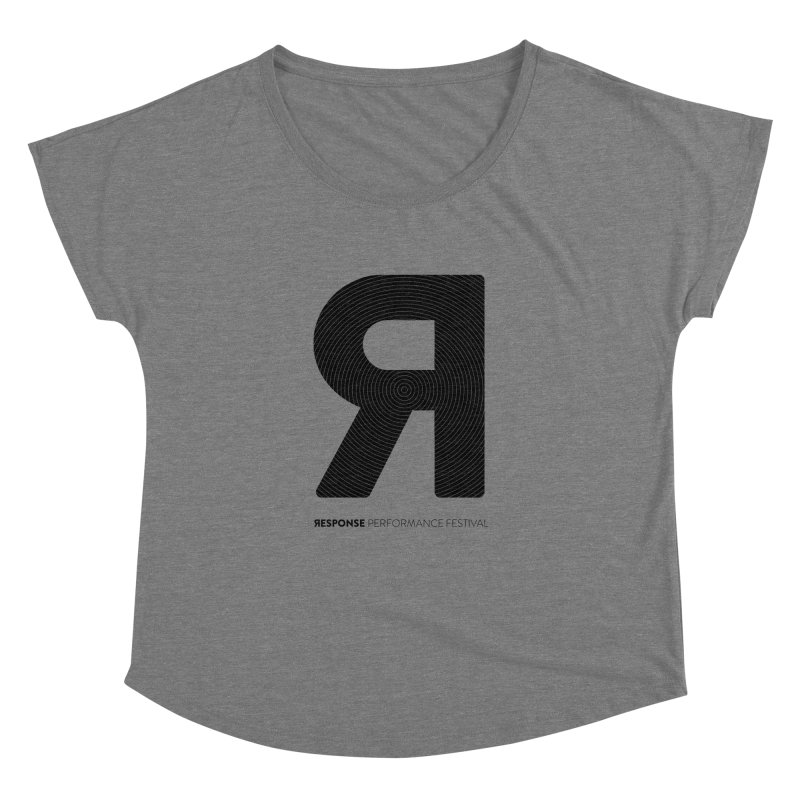Response Performance Festival - black logo Women's Dolman Scoop Neck by Torn Space Theater Merch