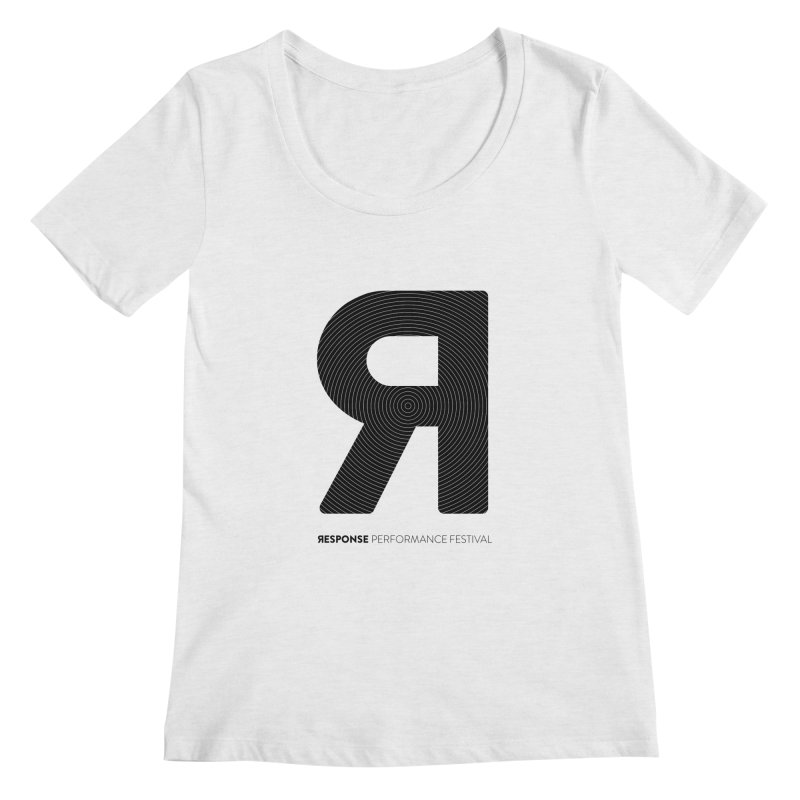 Response Performance Festival - black logo Women's Regular Scoop Neck by Torn Space Theater Merch