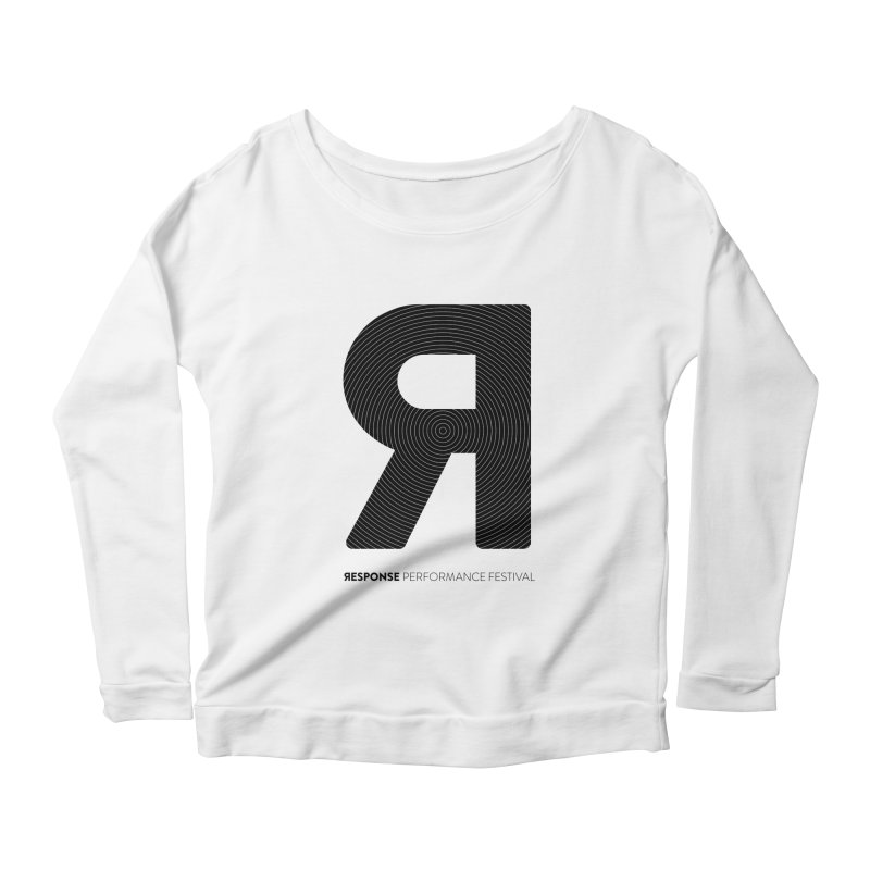 Response Performance Festival - black logo Women's Scoop Neck Longsleeve T-Shirt by Torn Space Theater Merch