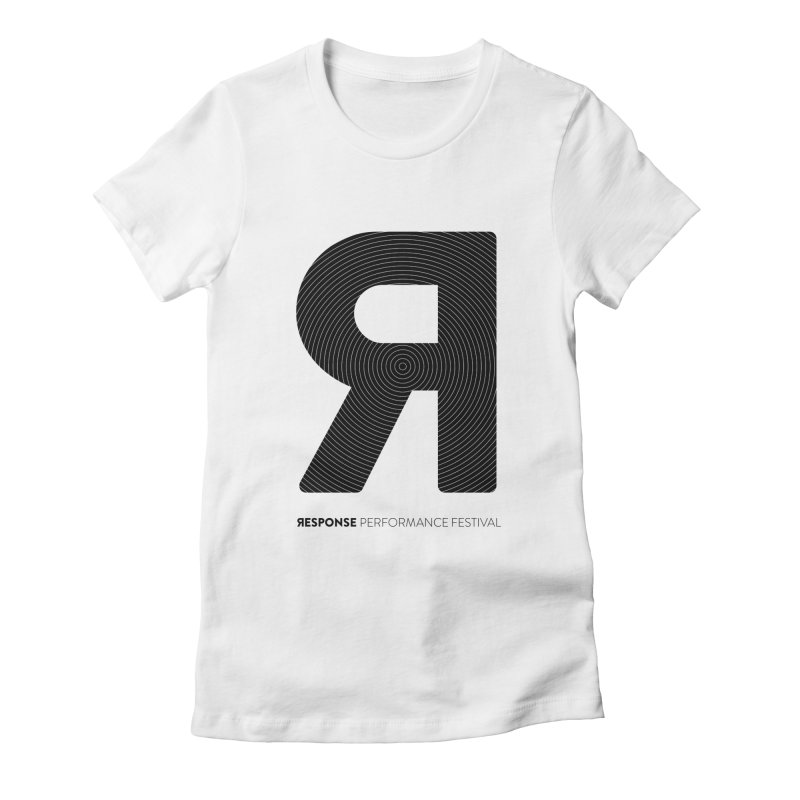 Response Performance Festival - black logo Women's Fitted T-Shirt by Torn Space Theater's Artist Shop