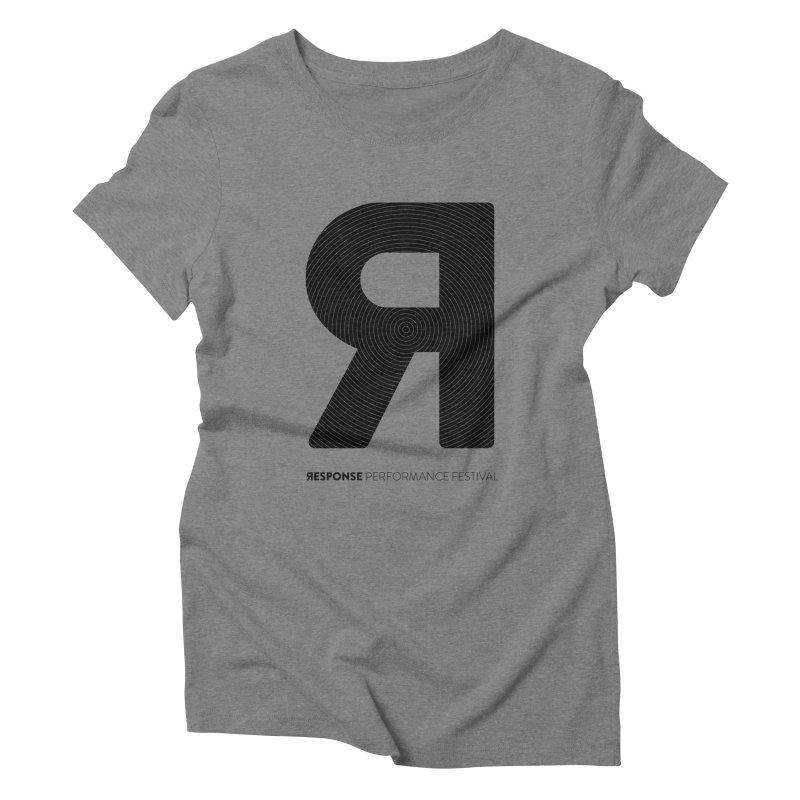 Response Performance Festival - black logo Women's Triblend T-Shirt by Torn Space Theater Merch