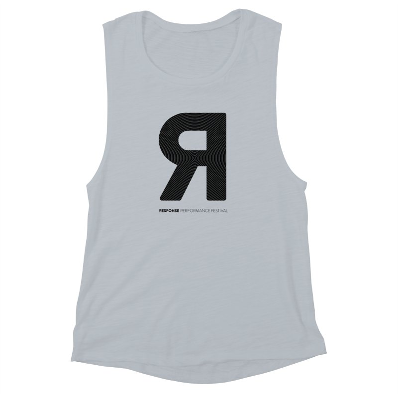 Response Performance Festival - black logo Women's Muscle Tank by Torn Space Theater's Artist Shop